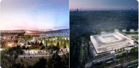 Nuovo Stadio Milano Calon Stadion Baru Duo Milan