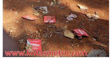 Bekas Kondom dan Tisu Magic Berserakan di Taman Kota Wijaya Kusuma Grogol