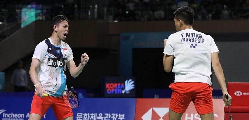 Fajar-Rian ke Final Korea Open 2019