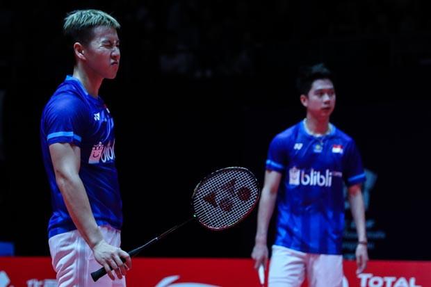 Marcus/Kevin Tersisih di Semifinal BWF World Tour Finals
