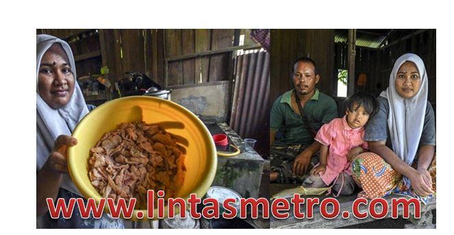 Keluarga Miskin Setiap Hari Makan Kulit Ayam Sisa Kantin