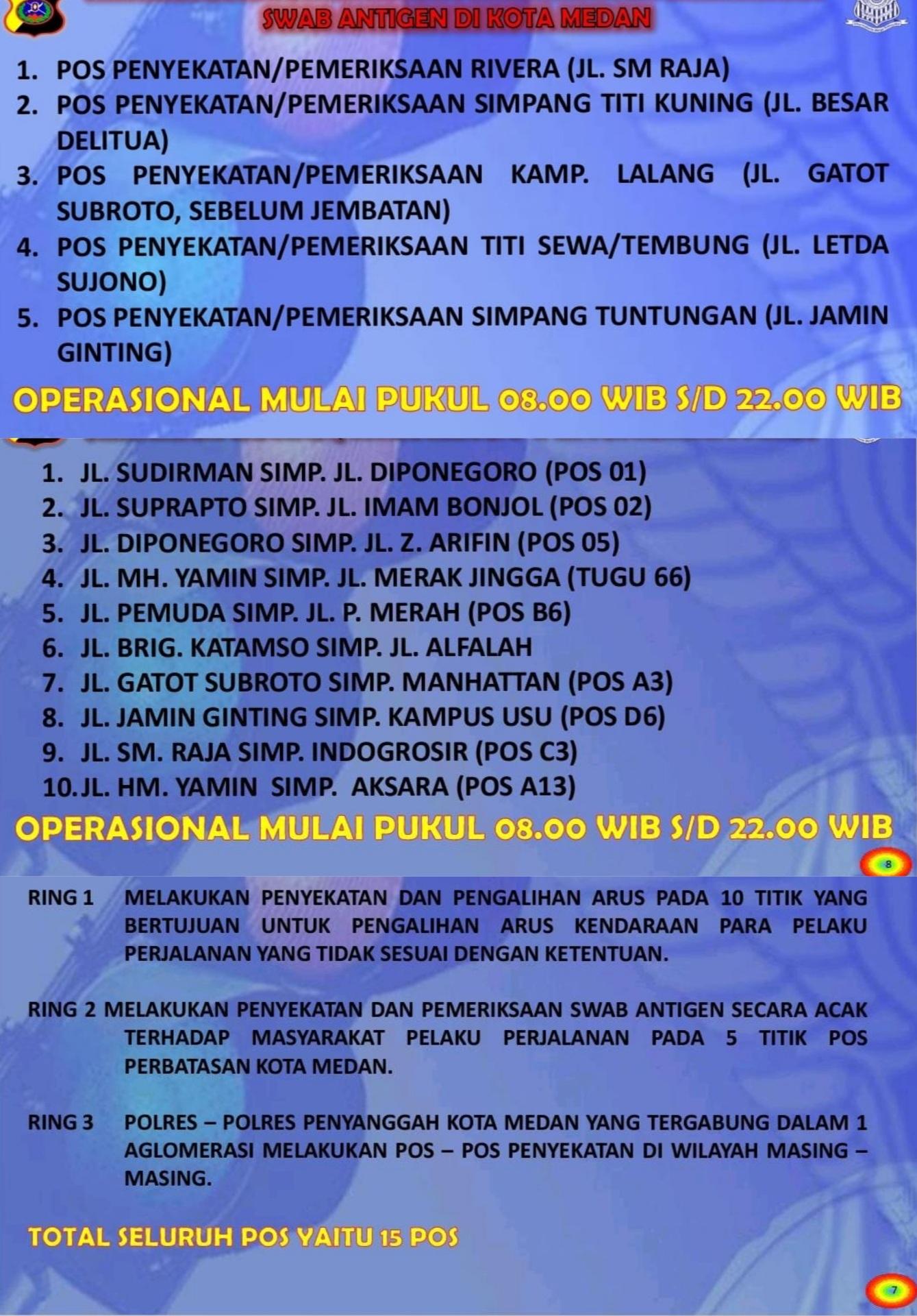 Pemerintah Kota Medan memberlakukan PPKM darurat mulai hari ini