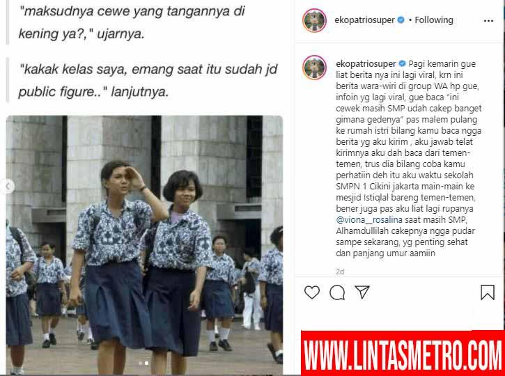 Viral Sebuah Foto Siswi Cantik Waktu Masih SMP